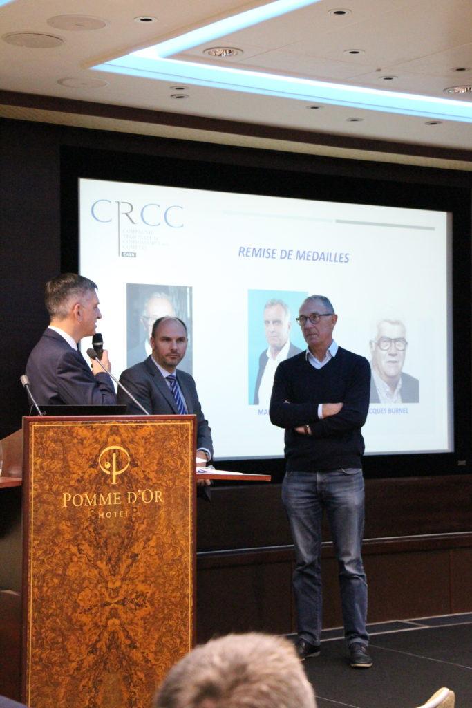 Remise de médaille à Vincent LESDOS, ancien Président de la CRCC CAEN