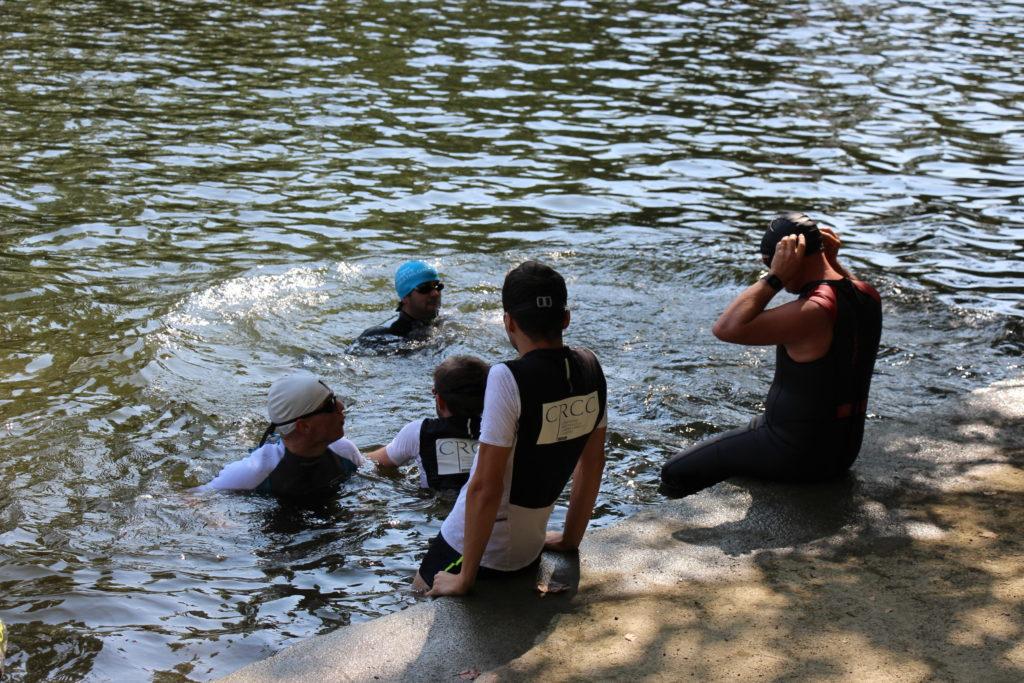 A l'eau pour 750 m de natation dans l'Orne !